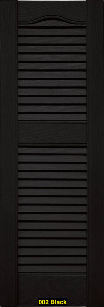 Mid America Vinyl Shutters Louvered Shutters Cathedral Top Lengths
