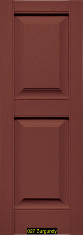 "Mid-America, Vinyl Shutters, Raised Panel Shutters, Lengths 67""- 75"", Widths 12"" or 14 3/4"""
