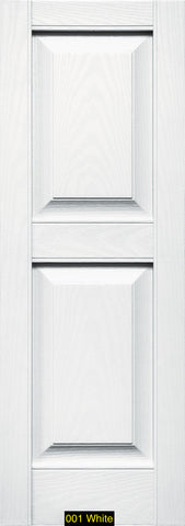 "Mid-America, Vinyl Shutters, Raised Panel Shutters, Lengths 80"", Widths 12"" or 14 3/4"""