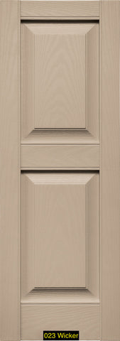 "Mid-America, Vinyl Shutters, Raised Panel Shutters, Lengths 43""- 51"", Widths 12"" or 14 3/4"""