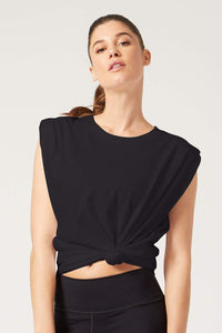 Fiona Muscle Tee Black