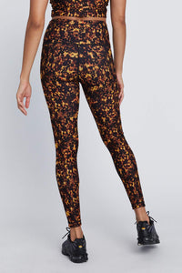 High Waist Reversible Leggings Tortoise Shell