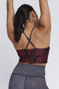Avery Cropped Tank Red Paisley