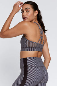 Strappy Bra Black And White Stripe