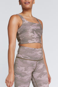 Thalia Cropped Tank Light Truffle Camo