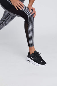 Nala Leggings Black And White Houndstooth