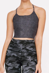 Avery Cropped Tank Black Denim SHIRT W.I.T.H.-Wear It To Heart