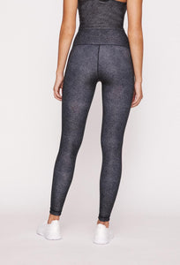 High-Waist Reversible Legging Black Denim