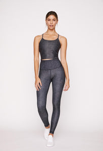High-Waist Reversible Legging Dark Denim Tigress