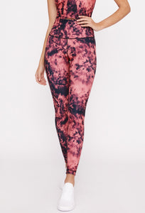 High-Waist Reversible Legging Infra Red Tie Dye