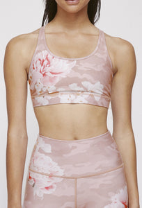 Strappy Bra Blush Camo Peony SHIRT W.I.T.H.-Wear It To Heart BLUSH CAMO PEONY XS