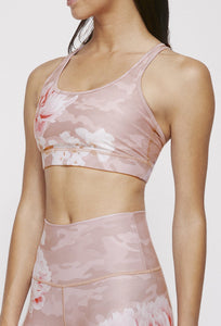 Strappy Bra Blush Camo Peony SHIRT W.I.T.H.-Wear It To Heart