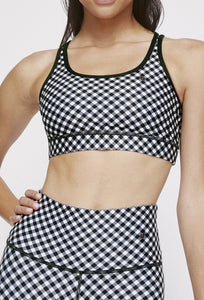 Strappy Bra Black Gingham SHIRT W.I.T.H.-Wear It To Heart BLACK GINGHAM XS