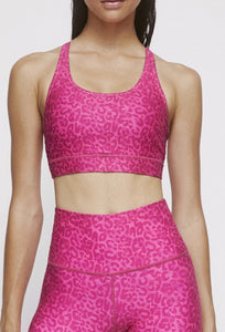 Strappy Bra Neon Pink Cheetah SHIRT W.I.T.H.-Wear It To Heart NEON PINK CHEETAH XS