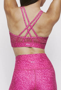 Strappy Bra Neon Pink Cheetah SHIRT W.I.T.H.-Wear It To Heart