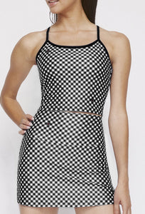 Avery Cropped Tank Black Gingham SHIRT W.I.T.H.-Wear It To Heart BLACK GINGHAM XS