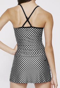 Avery Cropped Tank Black Gingham SHIRT W.I.T.H.-Wear It To Heart