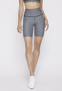 Kurt Reversible Short Black Gingham - Sky Blue Gingham PANTS W.I.T.H.-Wear It To Heart BLACK GINGHAM XS