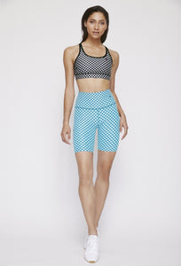 Kurt Reversible Short Black Gingham - Sky Blue Gingham PANTS W.I.T.H.-Wear It To Heart
