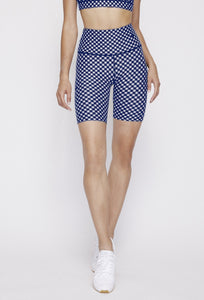 Kurt Reversible Short Navy Gingham - Sunshine Gingham PANTS W.I.T.H.-Wear It To Heart NAVY GINGHAM XS