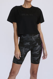 Kurt High Waist Short Black Camo PANTS W.I.T.H.-Wear It To Heart BLACK CAMO XS