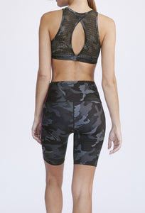 Kurt High Waist Short Black Camo PANTS W.I.T.H.-Wear It To Heart