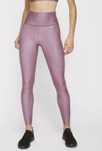 High Waisted Leggings Franken Pink With Stardust Silver PANTS W.I.T.H.-Wear It To Heart FRANKEN PINK XS