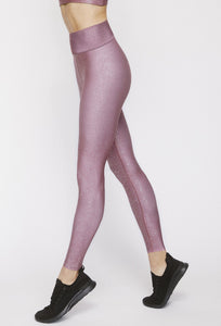 High Waisted Leggings Franken Pink With Stardust Silver PANTS W.I.T.H.-Wear It To Heart