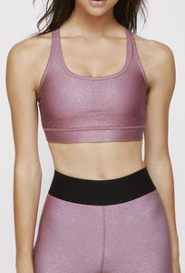 Strappy Bra Franken Pink With Stardust Silver SHIRT W.I.T.H.-Wear It To Heart FRANKEN PINK XS