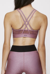 Strappy Bra Franken Pink With Stardust Silver SHIRT W.I.T.H.-Wear It To Heart