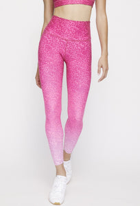 High Waist Reversible Leggings Neon Pink Cheetah - Neon Pink Camo PANTS W.I.T.H.-Wear It To Heart NEON PINK CHEETAH XS