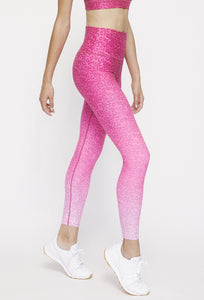 High Waist Reversible Leggings Neon Pink Cheetah - Neon Pink Camo PANTS W.I.T.H.-Wear It To Heart