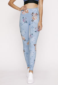 High-Waist Reversible Legging Stone Denim