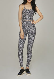 High-Waist Reversible Legging Black Daisy