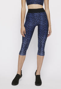 Iggy Capris Blue Chill Cheetah PANTS W.I.T.H.-Wear It To Heart BLUE CHILL CHEETAH XS