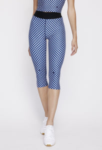 Iggy Capris Navy Gingham PANTS W.I.T.H.-Wear It To Heart NAVY GINGHAM XS