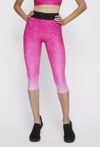Iggy Capris Neon Pink Cheetah PANTS W.I.T.H.-Wear It To Heart NEON PINK CHEETAH XS