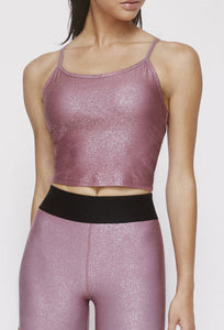 Avery Cropped Tank Franken Pink With Stardust Silver SHIRT W.I.T.H.-Wear It To Heart FRANKEN PINK XS