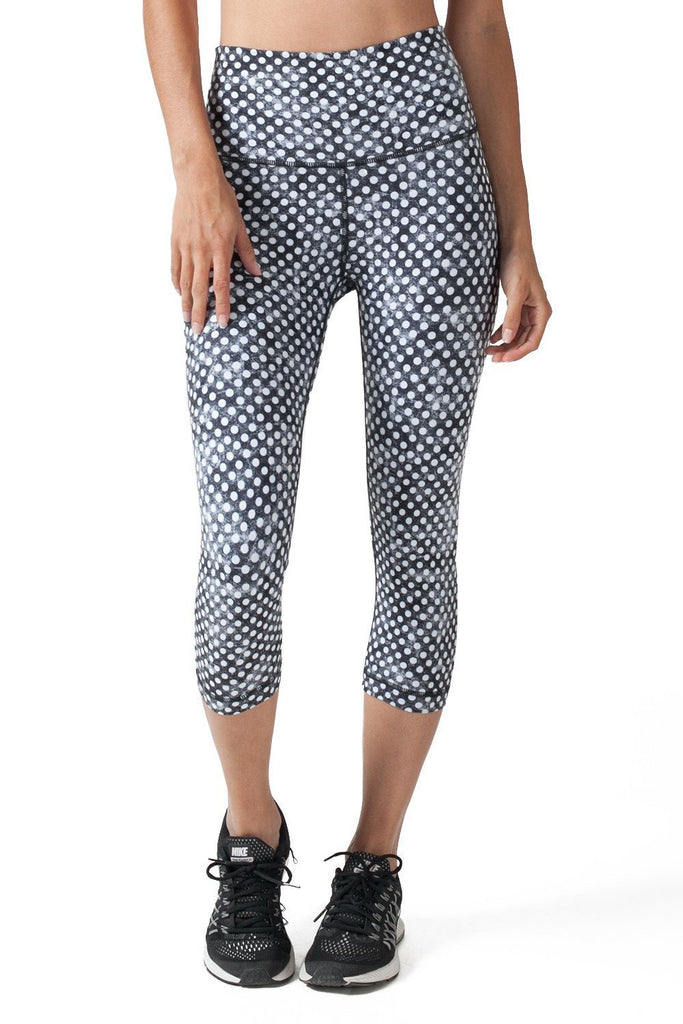 BLACK AND WHITE CLOUDY POLKA DOTS