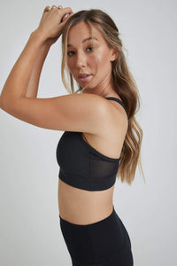 Strappy Bra Solid Black
