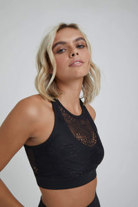 Noa Crossback Bra Solid Black