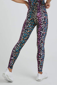 High Waist Leggings Multi Botanical