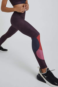 High Waist Leggings Burgundy Topsy Turvy