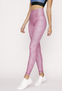High-Waist Reversible Legging Pink Derby Stripe