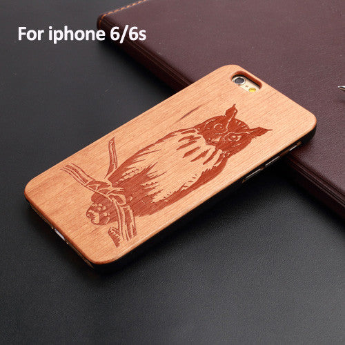 Hot Selling 100% Natural Wood+PC Hard Case Cover for Apple IPhone 5 5s se 6 6s 6plus 6s plus  4.7inch Many Kind of Design