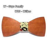Noeuds papillons en bois avec 16 dessins disponible - Butterfly bow ties available in 16 designs