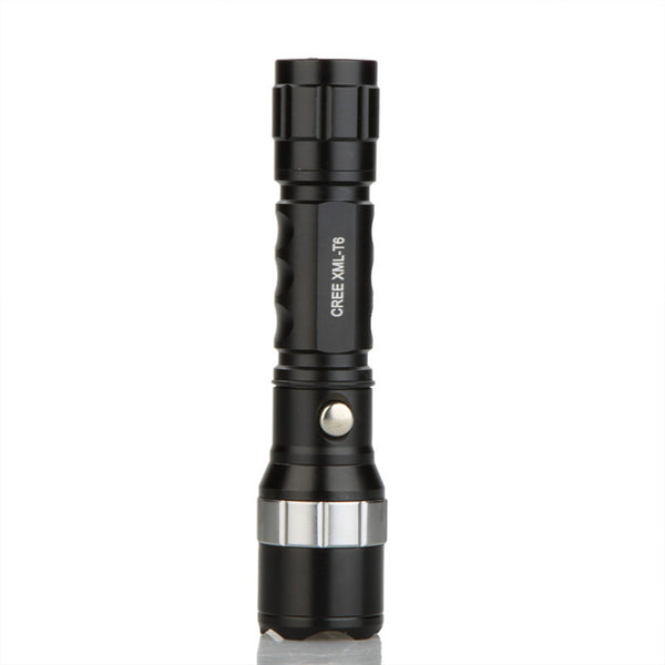 Flashlight for self defense with LED CREE T6 - Torche avec batteries rechargeables