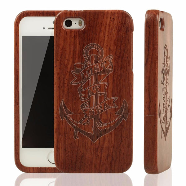 100% True natural bamboo wood case for Iphone 4S to 7
