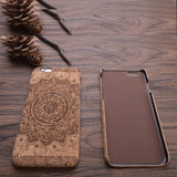 New wood grain design soft TPU fiber crack, carved pattern back phone, for Iphone 6 6S 7 7PLUS