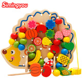 Montessori educational toy with 82 Pcs hedgehog fruit beads